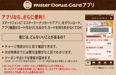 ミスタードーナツのクーポン情報ページ